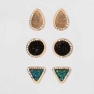 Sugarfix by Baublebar Druzy Earrings Gift Set
